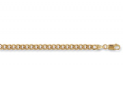 24 Inch 61cm 5mm Thick 9ct Gold flat Curb Chain 19g